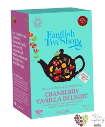 Brusinka a vanilka individual sachet of flavoured tea by English Tea Shop 20 ks