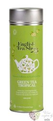 Zelený čaj a tropické ovoce individual pyramid of green tea in metal box by English Tea Shop 15 ks