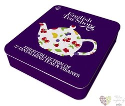 9 Super ovocných příchutí indiv. sachet of tea in metal gift pack by English Tea Shop 72 ks