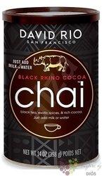 """David Rio """" Black Rhino Cocoa """" original istant Chai  398 g"""