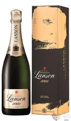 """Lanson blanc 2008 """" Gold Label """" Vintage Brut gift box Champagne Aoc    0.75 l"""