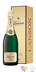"""Lanson blanc 2005 """" Gold Label """" Vintage Brut gift box Champagne Aoc    0.75 l"""
