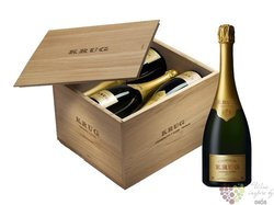 "Krug blanc "" Grande cuvée collection "" wood box Champagne Aoc   6x 0.75 l"
