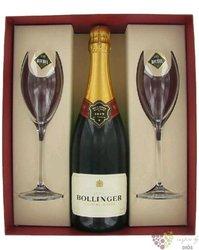 "Bollinger blanc "" Special cuvée "" 2glass Riedel pack brut 1er cru Champagne  0.75 l"