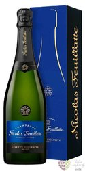 """Nicolas Feuillatte blanc """" Réserve """" brut gift box Champagne Aoc  0.75  l"""