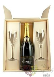 "Mailly blanc "" Reservé "" brut 2glass set Grand cru Champagne  0.75 l"