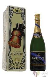 """de Venoge blanc """" Millésimé """" 2002 metal box brut Champagne Aoc  0.75 l"""