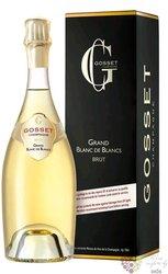 """Gosset blanc """" Grand Blanc de Blanc """" brut gift box Champagne Aoc  0.75 l"""