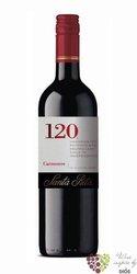 "Carmenere "" 120 range "" 2014 Chile Rapel valley viňa Santa Rita    0.75 l"