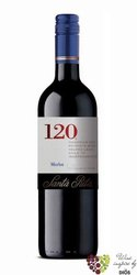 "Merlot "" 120 range "" 2015 Chile Central valley viňa Santa Rita     0.75 l"
