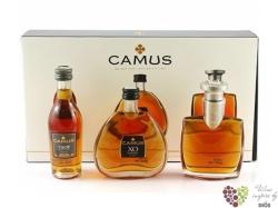 """Camus elegance """" VSOP & XO & Extra """" Cognac Aoc 40% vol.  3 x 0.05 l"""