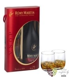 "Remy Martin "" VSOP "" 2glass pack Fine Champagne Cognac 40% vol.  0.70 l"