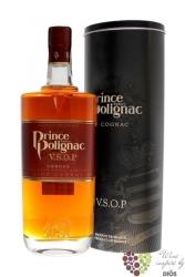 """Prince Hubert de Polignac """" VSOP """" metal box fine Cognac Aoc 40% vol. 0.70 l"""