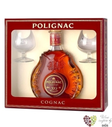"Prince Hubert de Polignac "" XO Royal "" 2glass pack Grande Champagne Cognac 40%vol.   0.70 l"