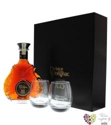 "Prince Hubert de Polignac "" XO Black "" 2glass pack Grande Champagne Cognac 40%vol.   0.70 l"