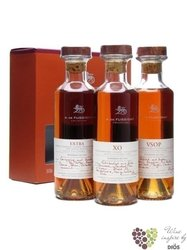 "The collection "" Cognac A. de Fussigny "" set of Cognac Aoc 40%.vol.  4 x 0.03 l"