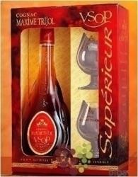 """Maxime Trijol """" VSOP """"  2glass pack Cognac Aoc 40% vol.    0.70 l"""