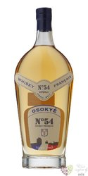 "Osokye "" no.54 "" single malt French whisky by Jean Godet 43% vol.  0.70 l"