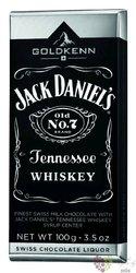 "GoldKenn Liqueur Collection "" Jack Daniels Tennessee whiskey "" Swiss chocolate bar  100g"