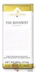 "GoldKenn Liqueur Collection "" the Botanist "" Swiss chocolate bar  100g"