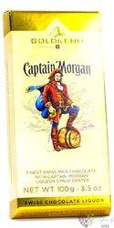 """GoldKenn Liqueur Collection """" Cpt.Morgan """" Swiss chocolate bar  100g"""