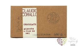 Claudio Corallo chocolate 70% with pepper and fleur de sel  160 g