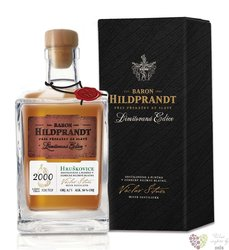 "Baron Hildprandt "" Hruškovice "" 2000 ltd edition Bohemian pear brandy 50% vol.0.70 l"