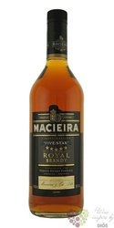 "Macieira "" Five stars "" Portugal wine brandy de Setúbal by Pernod Ricard 36% vol.  1.00 l"