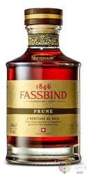 """Fassbind l´heritage de bois """" Prune """" Swiss aged fruit brandy 54.1% vol.  0.50 l"""