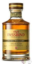 """Fassbind l´heritage de bois """" Poire Williams """" Swiss aged fruit brandy 53.8% vol.  0.50 l"""
