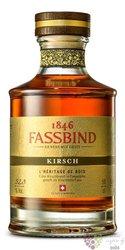 """Fassbind l´heritage de bois """" Kirsch """" Swiss aged fruit brandy 52.3% vol.  0.50l"""