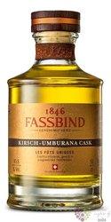 "Fassbind les futs uniques "" Kirsch umburana cask "" Swiss aged fruits brandy 45.8% vol.  0.50 l"