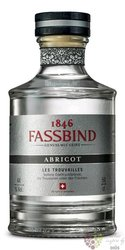 "Fassbind les Trouvailles ""  Abricot "" Swiss aged fruit brandy 44% vol.  0.50 l"