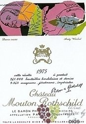 Chateau Mouton Rothschild 1975 Pauillac 1er Grand cru classé en 1855    0.75 l
