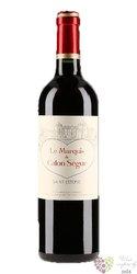 Marquis de Calon Ségur 2012 Saint Estephe second wine of Chateau Calon Ségur  0.75 l