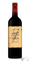 Fugue de Nenin 2011 Pomerol Aoc second wine Chateau Nenin  0.75 l