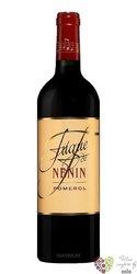 Fugue de Nenin Pomerol  2013 Pomerol Aoc second wine Chateau Nenin  0.75 l