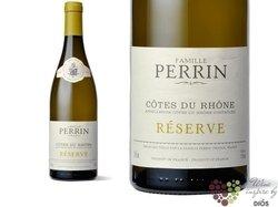 """Cotes du Rhone blanc """" Réserve Neutre """" Aoc 2009 domaine Perrin & fils   0.75 l"""