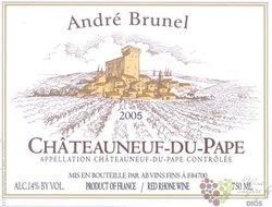 Chateauneuf du Pape blanc Aoc 1999 Andre Brunel     0.75 l