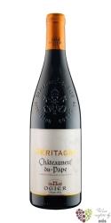 """Chateauneuf du Pape rouge """" Héritages """" Aoc 2011 Ogier Caves des Papes    0.75 l"""