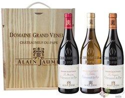 Dárkový dřevěný box na 3 lahve 0.75 l Grand Veneur