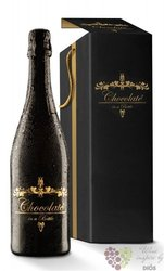 Chocolate in bottle gift box french sparkling dessert wine 6.5% vol  0.75 l