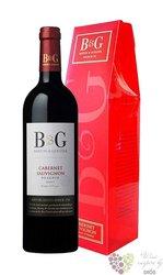 """Cabernet Sauvignon """" B&G éserve """" 2012 gift box Languedoc Roussillon VdP Barton& Guestier"""