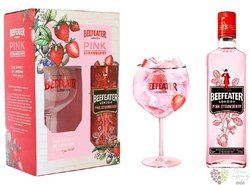 """Beefeater """" Pink """" glass set of flavored English gin 37.5% vol.  0.70 l"""