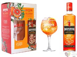 """Beefeater """" Blood Orange """" glass set English flavored gin 37.5% vol.  0.70 l"""