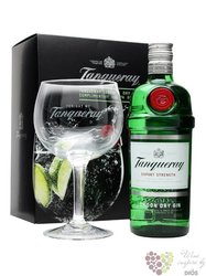 "Tanqueray "" Export Strength "" glass set London dry gin 47.3% vol.  0.70 l"