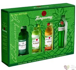 """Tanqueray """" Exploration """" set of special gins  4x0.05 l"""