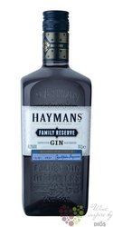 "Hayman´s "" Family reserve "" English London dry gin 41.3% vol.  0.70 l"