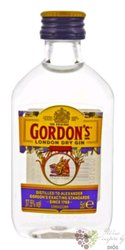 Gordon´s special London dry gin 37.5% vol.  0.05 l