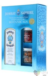 "Bombay "" Sapphire "" Botanicals set premium London dry gin 40% vol.  0.70 l"